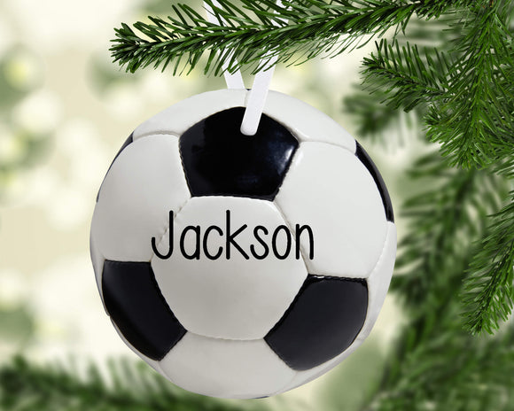 Soccer Christmas Ornament Metal