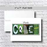 Soccer Coach Thank You Card~ 1 Card ~ Flat Cards