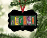 Softball Letter Art Name Ornament Metal