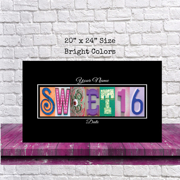 Sweet 16 Birthday Party Guestbooks