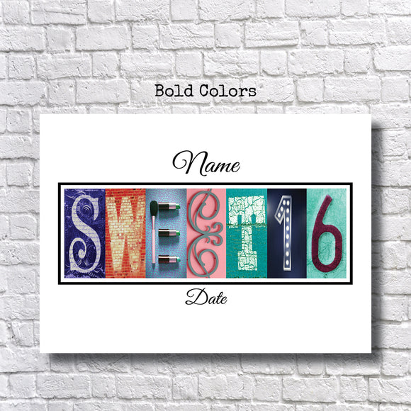 Sweet 16 Party Bold Colors