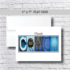 Swim Coach Thank You Card~ Cards ~ Flat Cards