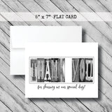Will you be my flower girl Card - Flat Card - 5x7 - Teal/Aqua