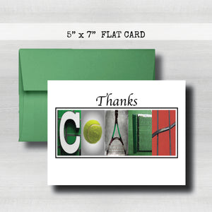 Tennis Coach Thank You Card~ Cards ~ Flat Cards
