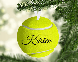 Tennis Christmas Ornament Metal
