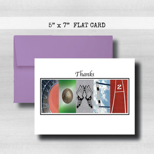 Track Coach Thank You Card~ Cards ~ Flat Cards