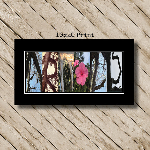 Tree Flower Branches Nature Letter Art