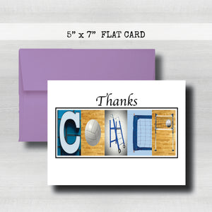 Volleyball Coach Thank You Card~ Cards ~ Flat Cards