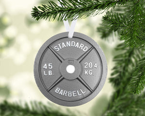 Weight Plate Christmas Ornament Metal
