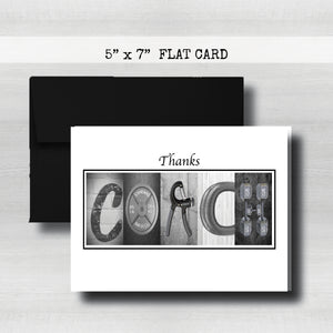 Weight Lifter- Coach Thank You Card~ Cards ~ Flat Cards