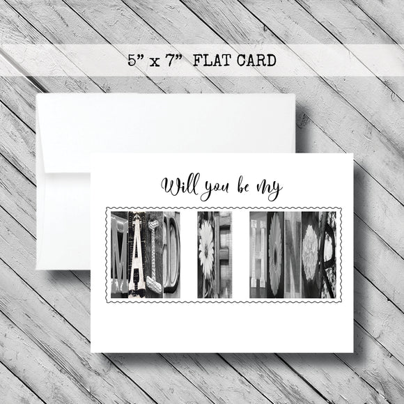 Will you be my Maid of Honor Card~ Card ~ Flat Cards