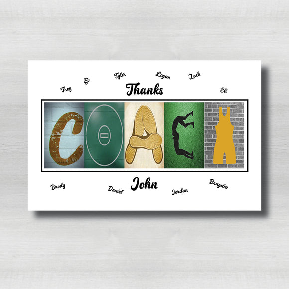 Wrestling Green and Gold Coach Thank you