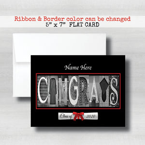 Personalized Congrats Graduation Card