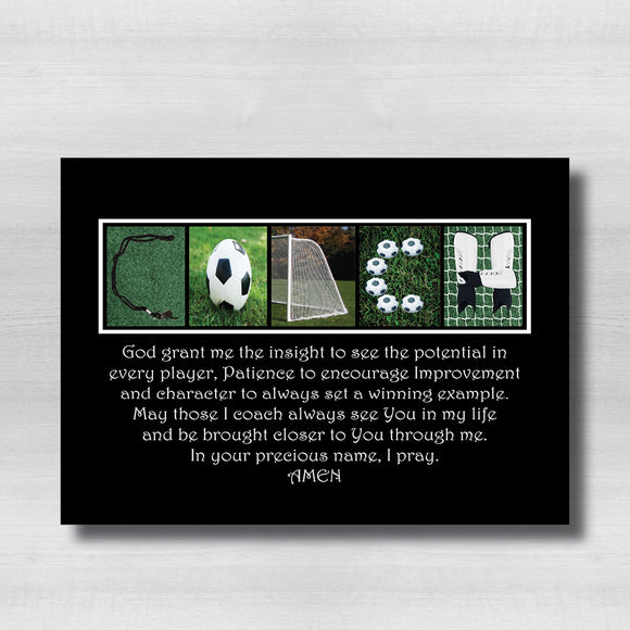 Soccer Coach Bible Verse-Black Background