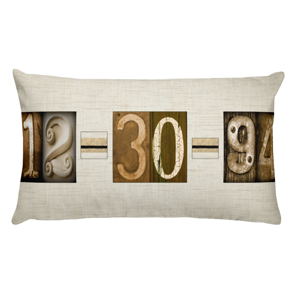 date art pillow