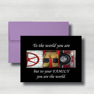 "Firefighter Fathers Day Card~ Cards ~ Flat Cards ~ 5"" x 7"""