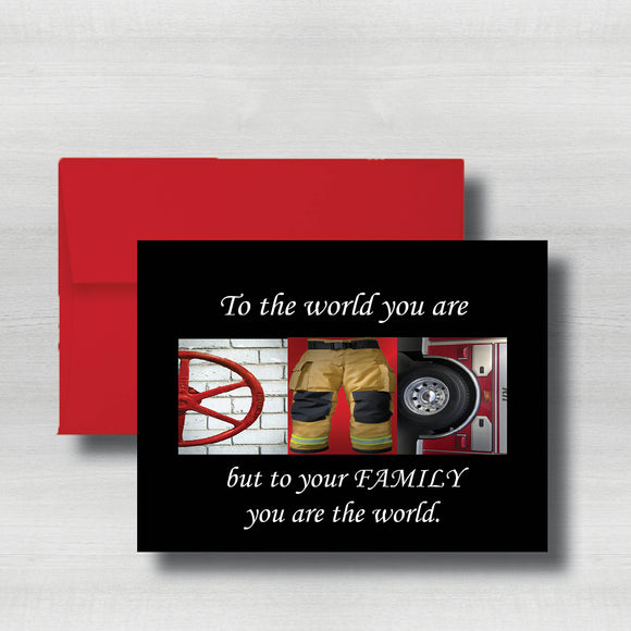Firefighter Fathers Day Card~ Cards ~ Flat Cards ~ 5