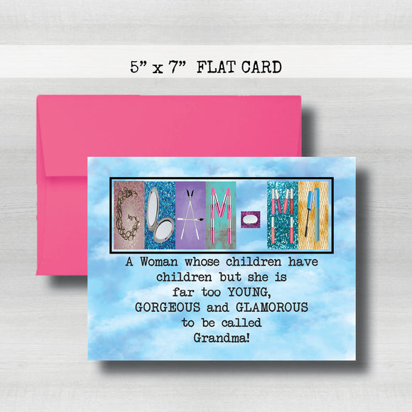 Glam-ma Card - Happy Mother's Day Card~ Cards ~ Flat Cards