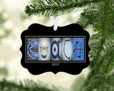 hockey coach ornament blue