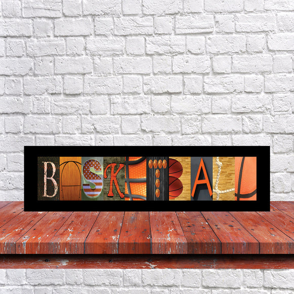 Basketball Letter Art Sign