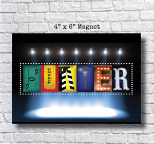 Magnet Theater Name Sign, Drama Club Gift, Stage Crew Gift,