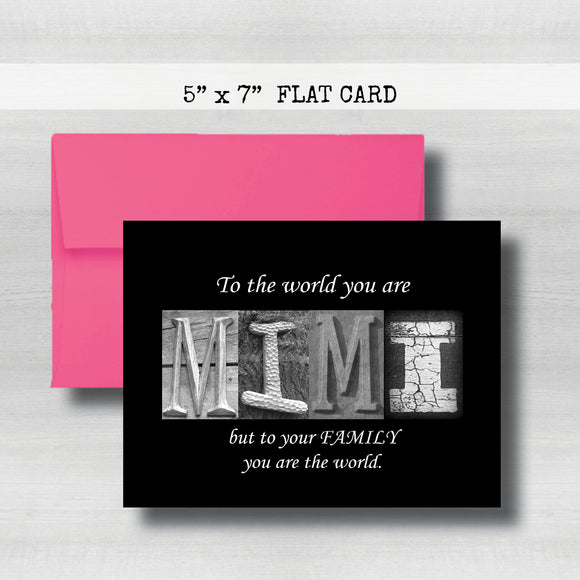Mimi ~Happy  Mother's Day Card~ Cards ~ Flat Cards
