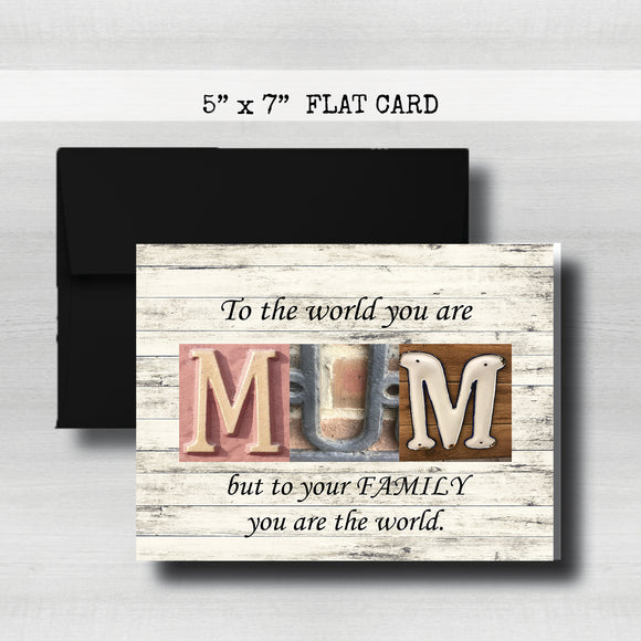 Happy MUM'S Day Card~ Cards ~ Flat Cards