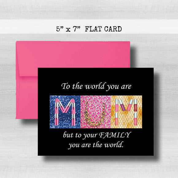 MUM'S Day Card~ Cards ~ Flat Cards