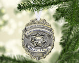Police Officer Name Ornament Metal