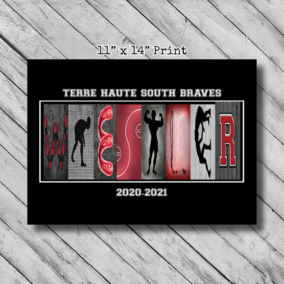 Wrestler Name Letter Art