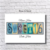 Sweet 16 Party Blue and Gold