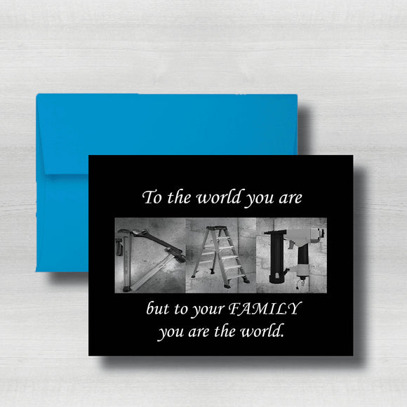 Home Improvement~Carpenter~Happy Fathers Day Card~ Cards ~ Flat Cards ~ 5