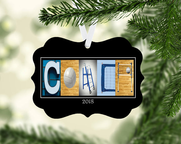 volleyball coach ornaments