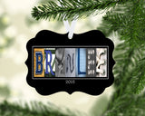 Volleyball Letter Art Name Ornament Metal