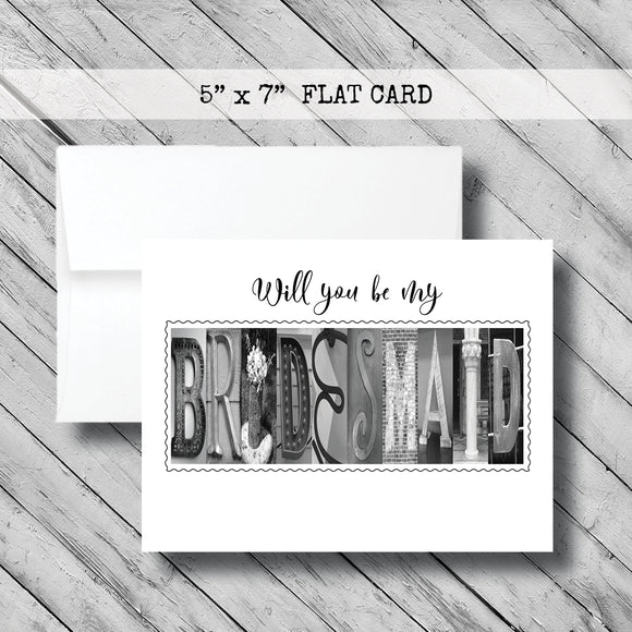 Will you be my Bridesmaid Card~ Flat Cards - Teal/Aqua