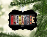 Wrestling Name Ornament