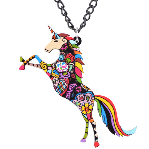 Unicorn Colorful Necklace - CraftyKatCorner