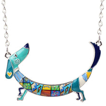 Dachshund Arched Necklace - CraftyKatCorner
