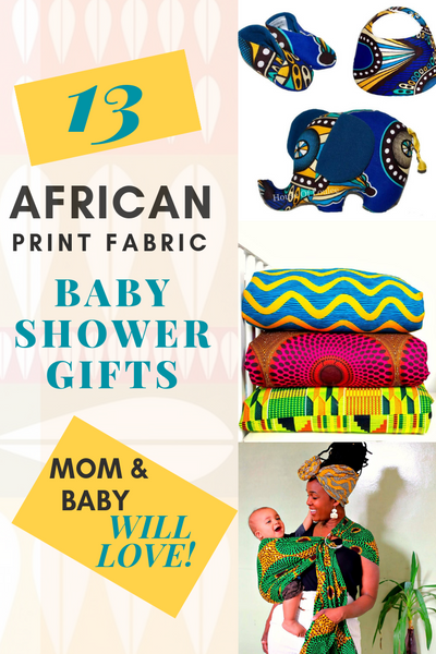African print fabric baby shower gift ideas afrocentric wakanda theme gifts