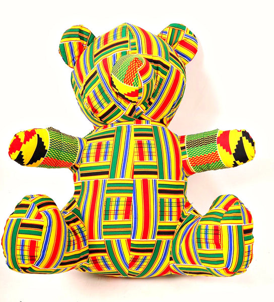 ankara african print fabric teddy bear