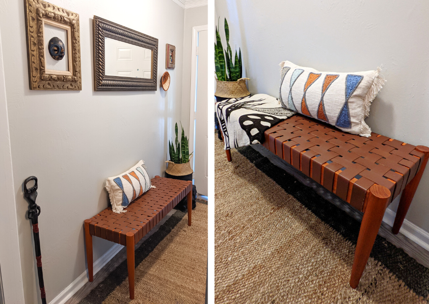 adding finishing touches to your entry way with modern decor and African accents