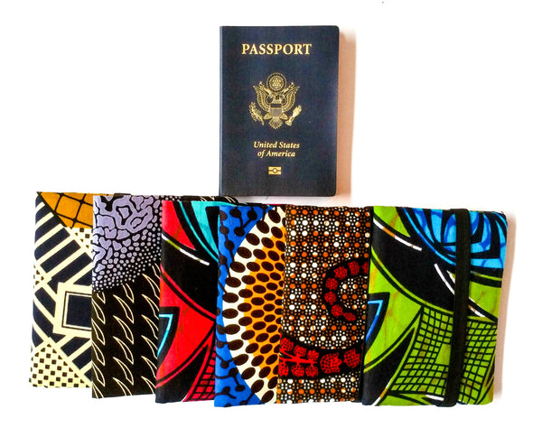 african print fabric passport covers afrocentric vacation travel accessories guide