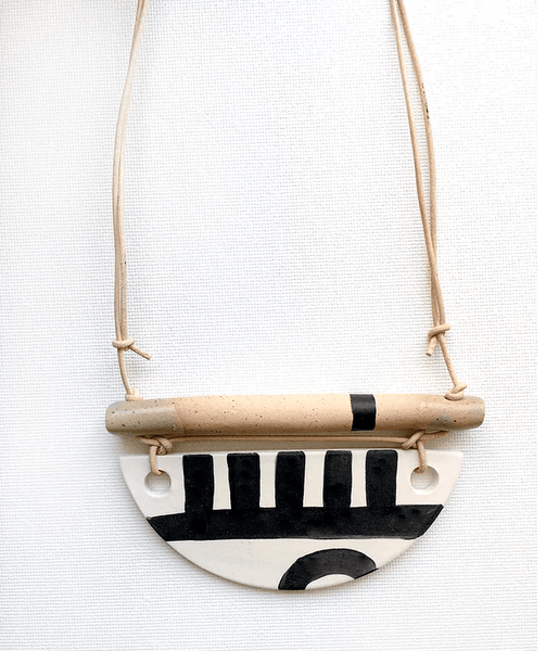 black pepper paperie black and white mud cloth design necklace mothers day gift guide