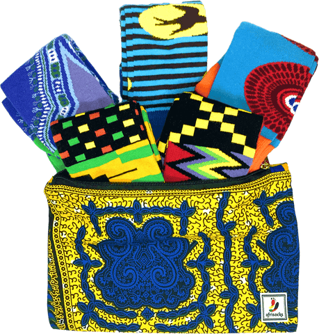 african print fabric pattern socks grad gift ideas