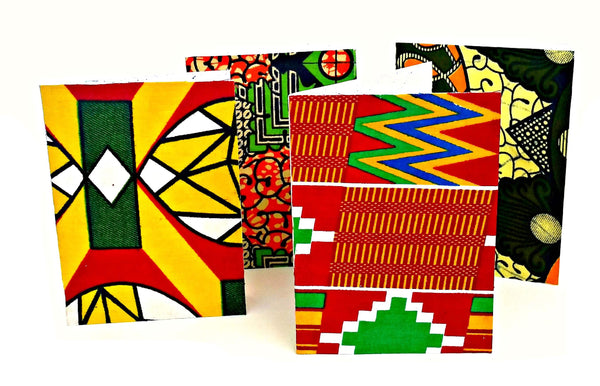 ankara african print fabric greeting cards blank inside afrocentric card
