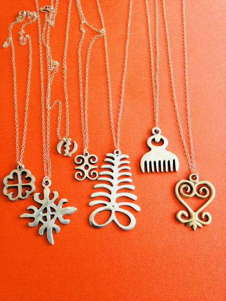 afrohemien adinkra symbol gold necklaces grad gift idea