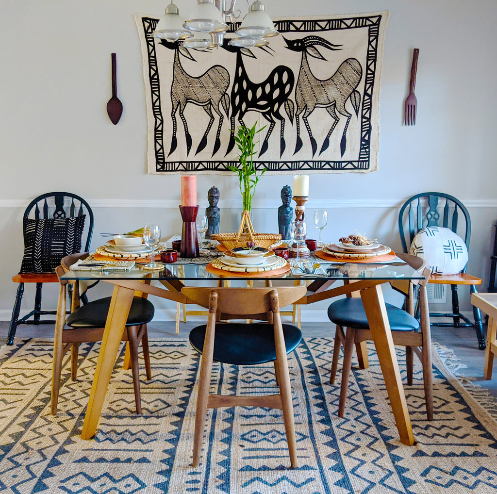afro modern african inspired dining table styling