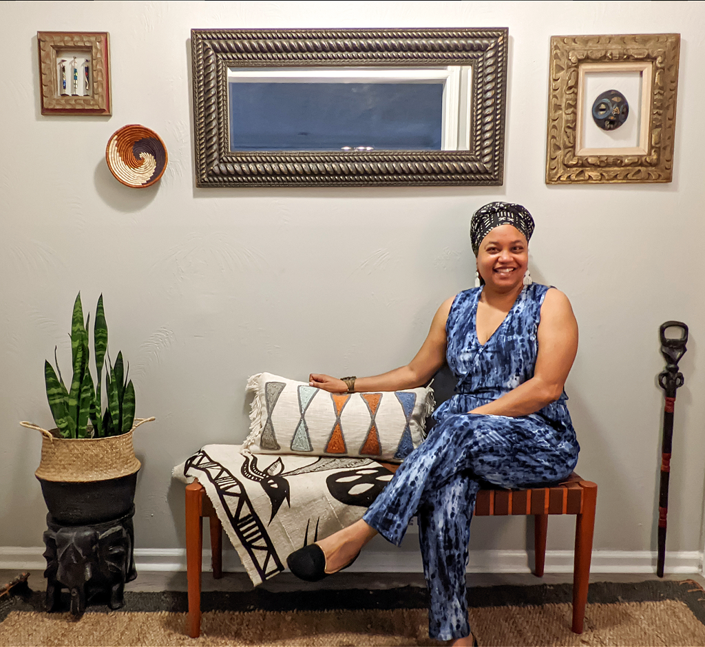 anitra terrell reflektion design Afro modern entry way reveal with allmodern