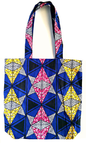 ankara african print fabric reversible tote bag back to school college shopping ideas