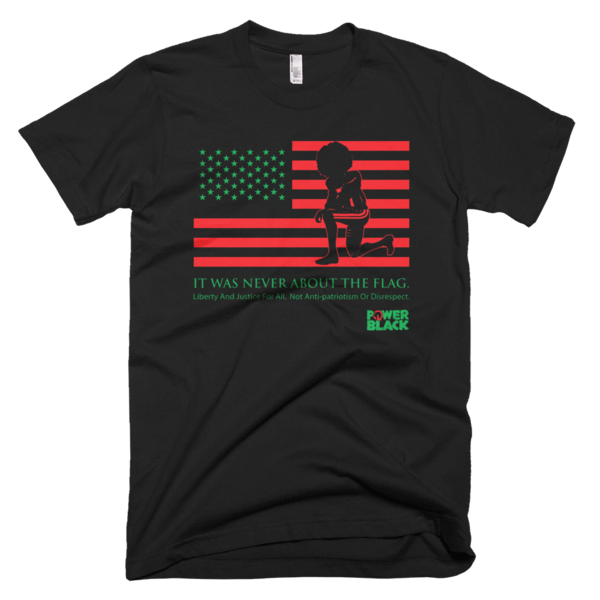 collin kapernick never about the flag black t shirt